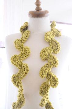 yellow leaf scarf