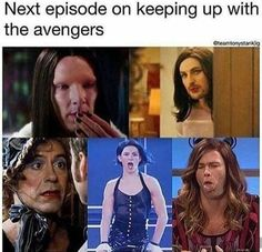 // avengers // marvel // funny // On the next episode of keeping up with the Avengers.oh dear lord Avengers Humor, Marvel Jokes, Funny Marvel Memes, Dc Memes, Loki Funny, Marvel Dc Comics, Marvel Avengers, Marvel Actors, Marvel Characters Female