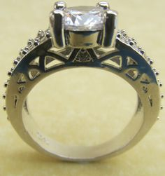 Ring 925 Sterling Silver 2ct + Swarovski Elements Round Cut Size O - No Reserve  #Caligula