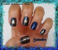 El maletin de la señorita Sonso: Manicura 2 tonos de Azul con Estrellas. Colaboración Banggood (4).