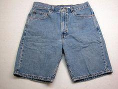 Levi's 550 Sz Tag 34 Regular Fit Jean Shorts Medim Wash ( MEASURES 32 X 9 ) #Levis #CasualShorts