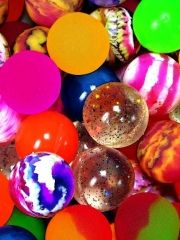 super balls- I was obsessed with collecting these!