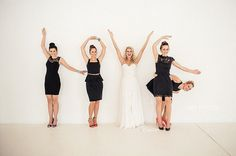 Creative Photos with the Bridesmaids | Confetti.co.uk