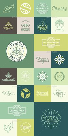 Natural Badges  #design element #diet #eco • Click here to download ! http://graphicriver.net/item/natural-badges/13785781?s_rank=197&ref=pxcr