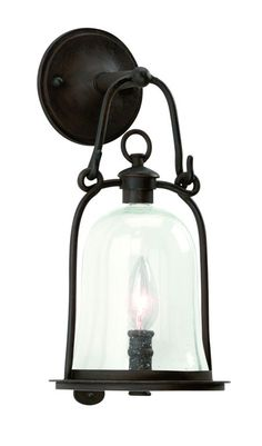 /\ /\ . Owingsmill Barn Lantern, Natural Bronze