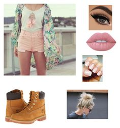 """Untitled #29"" by alyssahislope22 ❤ liked on Polyvore featuring Timberland and Lime Crime"
