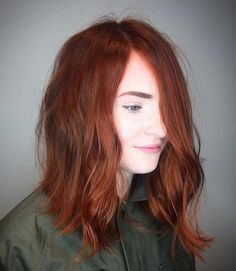 Red Long Bob for Fine Hair - Cabello Rubio Red Bob Hair, Wine Red Hair, Bob Hair Color, Red Blonde Hair, Short Red Hair, Short Hair Styles, Medium Red Hair, Red Hair Pale Skin, Light Red Hair