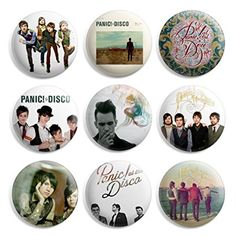 Panic At The Disco Pinback Buttons Pin Badges 1 Inch (25mm) - Pack of 9