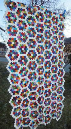 "Hexagon Alley: My 1/2"" hexagon quilt project"