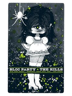 bloc party  Music posters | bloc_party 7 & the kills