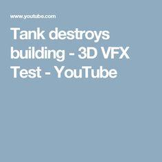 Tank destroys building - 3D VFX Test - YouTube Tank Movie, Proof Of Concept, Puzzles, 3d, Games, Building, Youtube, Ideas, Puzzle