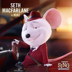 """Who would you have voted for as the winner of the """"Sing"""" singing contest? Disney Pixar, Disney Cartoons, Disney Animation, Sing Movie 2016, Sing 2016, Sing Movie Characters, Cute Characters, Illumination Sing, Dreamworks"""