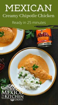 Say hello to one of your next favorite recipes, Creamy Chipotle Chicken Breast! I am always trying to make new recipes that take less time to make but can still satisfy my Mexican taste buds, and I'm also always wanting to try new things and maybe get out of my comfort zone a little. #mexicanfood #mexicanchicken #chickenchipotle #easydinner Great Recipes, Dinner Recipes, Favorite Recipes, Healthy Recipes, Healthy Foods, Yummy Recipes, Dinner Ideas, Mexican Chicken Recipes, Mexican Dishes