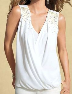 NWT CACHE Sexy Black White Studded Dress Top Evening Club Party      S  M  L  XL #CACHE #Blouse #Clubwear