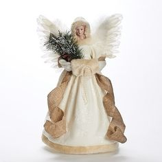 #cool Add an #elegant and country rustic touch to your Christmas tree this season with this beautiful angel tree topper This beautiful angel tree topper has an i...