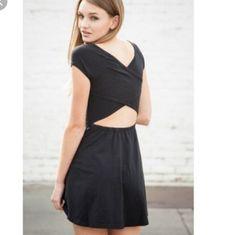 Brandy Melville Bethan Criss Cross Black Dress