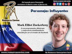 Mark Elliot Zuckerberg(White Plains, Estados Unidos, 14 de mayo de 1984) es un programador, filántropo y empresario estadounidense conocido por ser el creador de Facebook. Actualmente es el personaje más joven que aparece en la lista anual de milmillonarios de la revista Forbes, con una fortuna valorada en 34.200 millones de dólares. Fue nombrado como Persona del Añoen 2010 por la publicación estadounidense Time.  #MarkZuckerberg #RomarcaEnvios