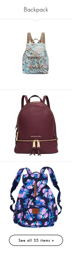"""""""Backpack"""" by spaghetti-os ❤ liked on Polyvore featuring bags, backpacks, zipper, floral canvas backpack, canvas daypack, drawstring flap backpack, travel backpack, mini backpack, accessories and bolsas"""