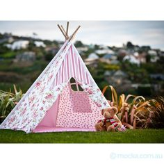 teepees. Love this. Just got one for S's 'big girl' room