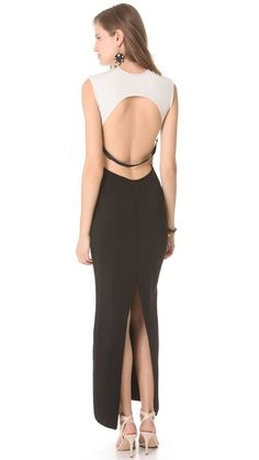 Osklen Colorblock Long Fitted Dress   SHOPBOP