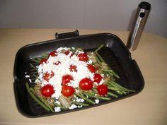 zelene fazulky s mozzarelou