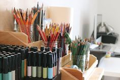 creative colored pencil storage