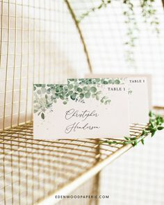 Eucalyptus Wedding Place Card Templates Purchase, personalize, and print within minutes! Edit using the Templett app in your computer browser – no additional software needed! Please try demo and seek clarification before purchasing the template. FREE DEMO ━━━━━━ Top Wedding Trends, Diy Wedding, Floral Wedding, Wedding Details, Summer Wedding, Wedding Reception, Wedding Rings, Wedding Ideas, Place Card Template