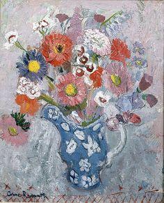 Anne Redpath | Flowers in a Blue Jug