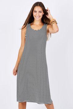 CORDELIA ST - Stripe Tank Dress