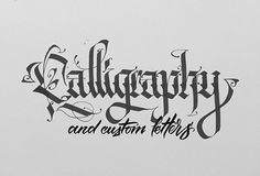 Calligraphy and custom letters on Behance