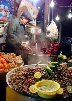 Street food in iran لبو....باقالی