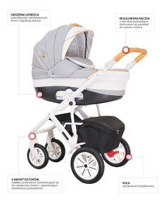VERONA ECO  to wózek dla dzieci w wieku od 0-36 miesięcy. Uwodzi stylem i elegancją. Bardzo nowoczesna w formie jak i w rozwiązaniach technologicznych. Funkcjonalna, wykonana z bardzo dobrych gatunkowo materiałów, posiada ozdobną gondolę,która nadaje smak tej kompozycji. Koła pompowane - duże zamortyzowane sprawiają, iż jazda nim to nic innego jak przyjemność. Wygoda, komfort, płynność jazdy to jego cechy. Piękno i bezpieczeństwo  – to nasza VERONA ECO