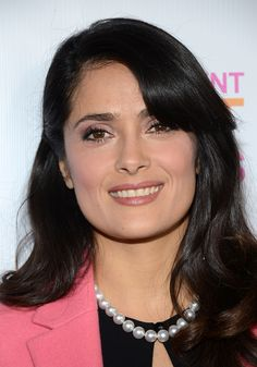 Salma Hayek in pearls at the 2013 Independent Spirits Brunch.