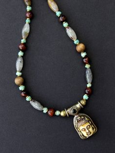 Beautiful Carved Bone #Buddha #Pendant #Necklace by CatchingWaves http://etsy.me/2cUNksA  #buddhist #jewelry #spiritual  Perfect #gift for any occasion