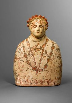 Terracotta bust of a Phrygian goddess 5th-4th C BCE.