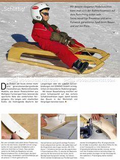 Wooden Sleigh Plans - Children's Outdoor Plans