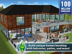 The Sims FreePlay Receives Dream Home Content Update The Sims, Sims 4, Sims Love, Sims Stories, Sims Freeplay Houses, Sims Free Play, Best Mobile, House Floor Plans, Swimming Pools
