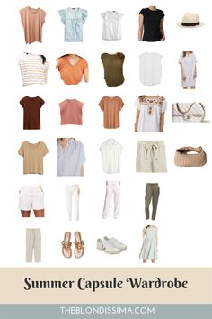 Summer Capsule Wardrobe - The Blondissima All White Outfit, Neutral Outfit, White Outfits, New Outfits, Trendy Outfits, Summer Outfits, Create A Shopping List, Seamless Underwear, Fall Capsule Wardrobe