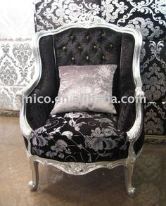Black and silver chair for my bedroom