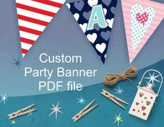 Custom Party Banner  Personalized Party by ArigigiPixel on Etsy