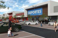 Imagen del anteproyecto de un Centro Comercial en León Buildings, Public, Shopping Center, Architecture, Interiors