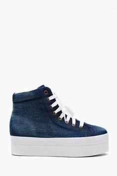 Homg Platform Sneaker - Denim
