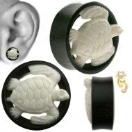 Wholesale Body Jewelry White Sea Turtle Design Body Jewelry PO2-7 Wholesale Body Jewelry, White Sea, Plugs, Turtle, Canvas, Design, Tela, Turtles, Corks