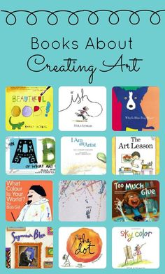 Art Books About Being an Artist – Fantastic Fun & Learning Books About Creating Art~Inspire your little artists' creativity with these great picture books about art Art Books For Kids, Childrens Books, Art For Kids, Art Children, Kid Books, Best Art Books, Art Lessons For Kids, Story Books, Reading Books