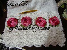 Alcione Telles - Clube do Croche: gráficos de barrado sobreposto esta toalha eu fiz ...