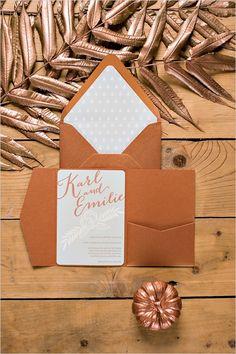 Invitations pour mariage en cuivre