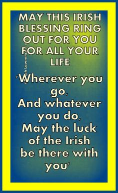 May the luck of the #Irish be There with you