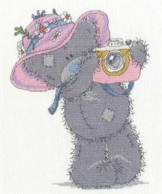 Tatty Teddy Snapshots In The Sun Cross Stitch Kit £22.50 | Past Impressions | DMC