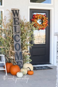 3 Fall Front Porch's: Three Ways- Day 2 - The Wood Grain Cottage