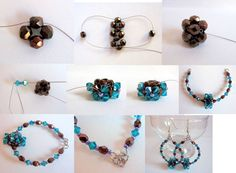 D.I.Y. - Memory Wired RAW Earrings! Featured FREE tutorial in Bead-Pattterns.com Newsletter